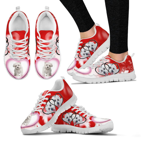 Valentine's Day Special-Maltese Dog Print Running Shoes For Women-Free Shipping