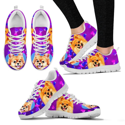Valentine's Day Special-Cute Pomeranian Dog Print Running Shoes For Women-Free Shipping