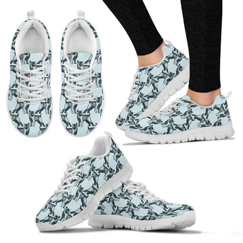 Brussels Griffon Pattern Print Sneakers For Women- Express Shipping