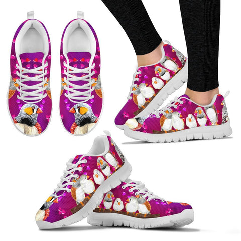 Valentine's Day Special-Zebra Finch Bird Print Running Shoes For Women-Free Shipping