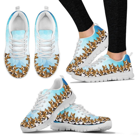 Pembroke Welsh Corgi Pattern Print Sneakers For Women- Express Shipping