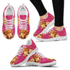 Valentine's Day Special-Nova Scotia Duck Tolling Retriever On Red Hearts Print Running Shoes For Women-Free Shipping