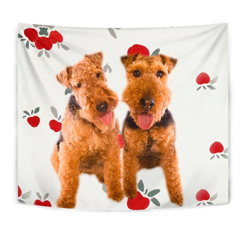 Welsh Terrier Print Tapestry-Free Shipping