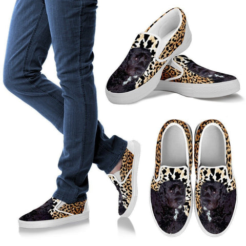Barbet Dog Print Slip Ons For Women-Express Shipping