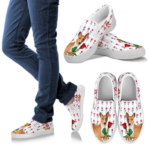 Valentine's Day Special-Basenji Dog Print Slip Ons For Women-Free Shipping