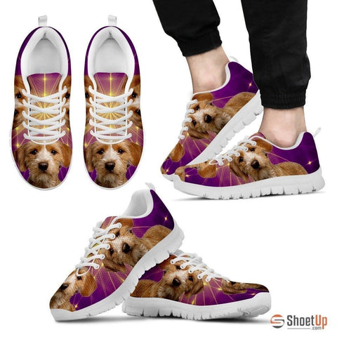 Basset Fauve de Bretagne Dog (White/Black) Running Shoes For Men-Free Shipping