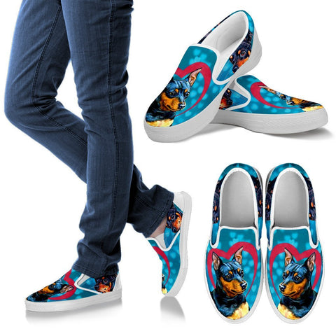 Valentine's Day Special-Miniature Pinscher Dog Print Slip Ons Shoes For Women-Free Shipping