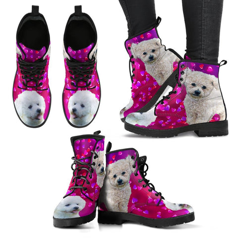 Valentine's Day Special-Bichon Fries Dog Print Boots For Women-Free Shipping