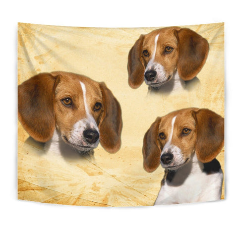 American Foxhound On Yellow Print Tapestry-Free Shipping
