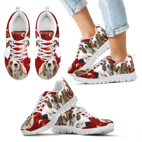 Basset Hound Print-Kid's Running Shoes-Free Shipping