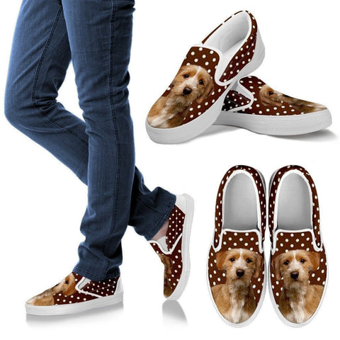 Basset Fauve de Bretagne Dog Print Slip Ons For Women-Express Shipping