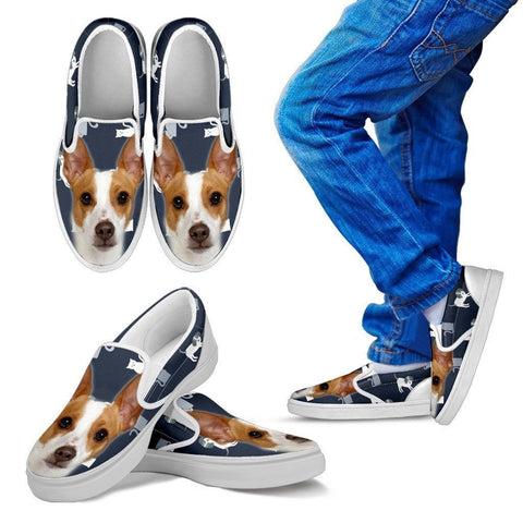 Rat Terrier Print Slip Ons For Kids- Express Shipping