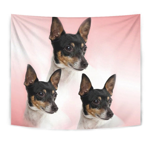 Toy Fox Terrier Print Tapestry-Free Shipping