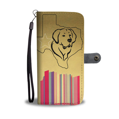 Cute Golden Retriever Sketch Print Wallet Case-Free Shipping-TX State