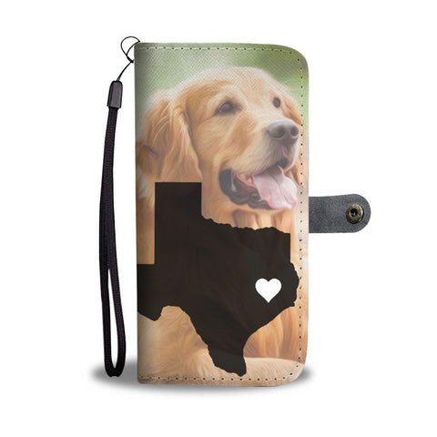 Golden Retriever Dog Painting Print Wallet Case-Free Shipping-TX State