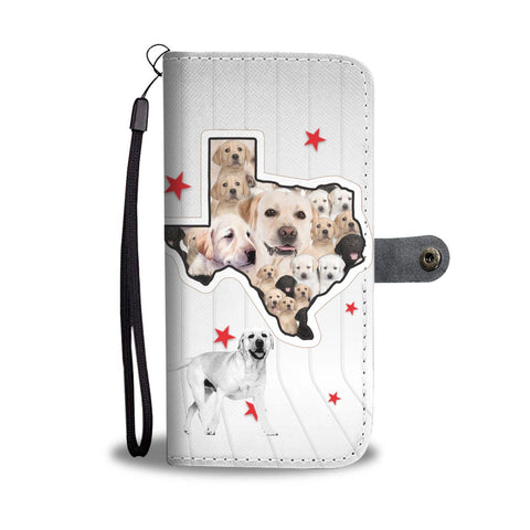 Cute Labrador Retriever Print Wallet Case-Free Shipping-TX State