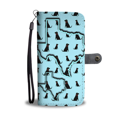 Labrador Retriever Dog Pattern Print Wallet Case-Free Shipping-TX State