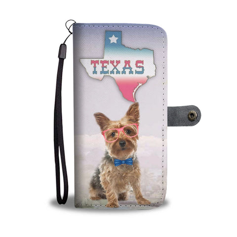 Cute Yorkshire terrier Print Wallet Case-Free Shipping-TX State