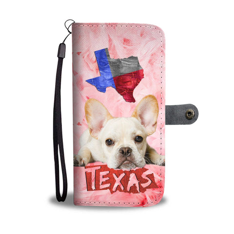 Cute French Bulldog Print Wallet Case-Free Shipping- TX State