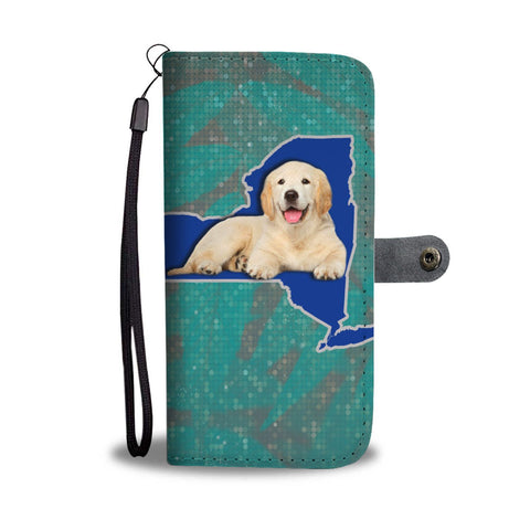 Golden Retriever Dog Print Wallet Case-Free Shipping-NY State