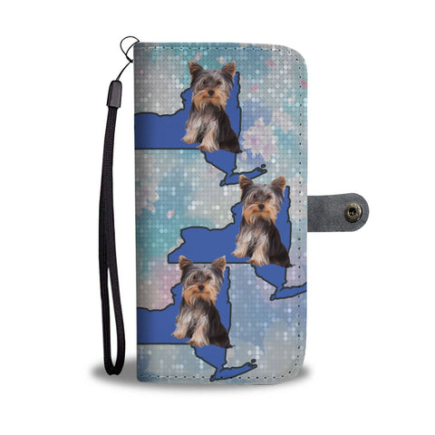 Yorkshire Terrier Dog Print Wallet Case-Free Shipping-NY State