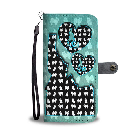 American Eskimo Dog Pattern Print Wallet Case-Free Shipping-ID State