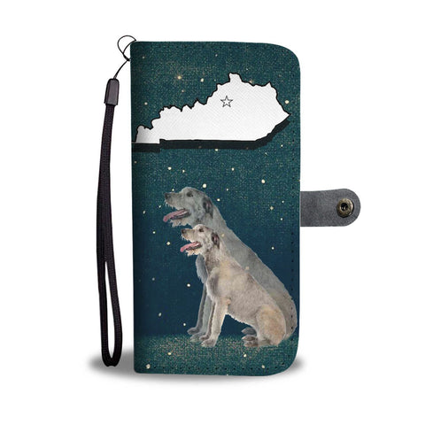 Irish Wolfhound Print Wallet Case-Free Shipping-KY State