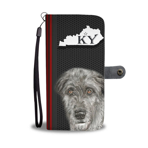 Amazing Irish Wolfhound Print Wallet Case-Free Shipping-KY State