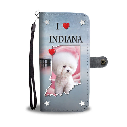 Lovely Bichon Frise Print Wallet Case-Free Shipping-IN State