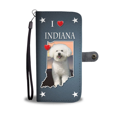 Cute Bichon Frise Print Wallet Case-Free Shipping-IN State