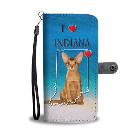 Abyssinian Cat Print Wallet Case-Free Shipping-IN State