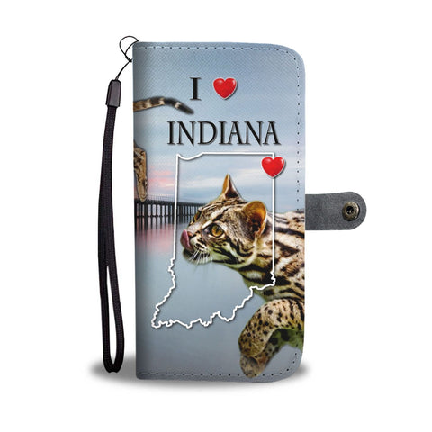 Bengal Cat Print Wallet Case-Free Shipping-IN State
