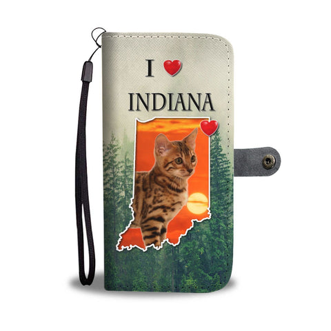 Cute Bengal Cat Print Wallet Case-Free Shipping-IN State