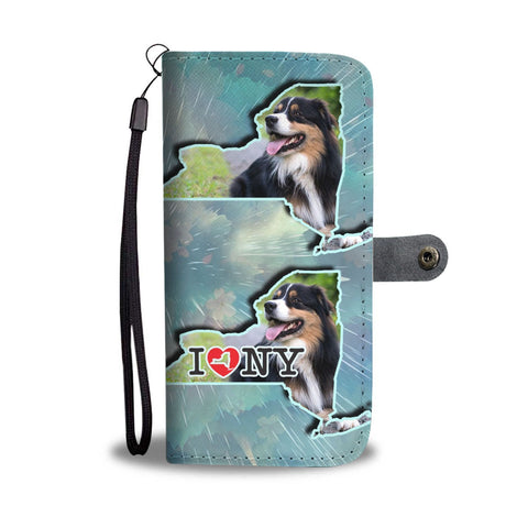 Australian Shepherd Dog Print Wallet Case-Free Shipping-NY State