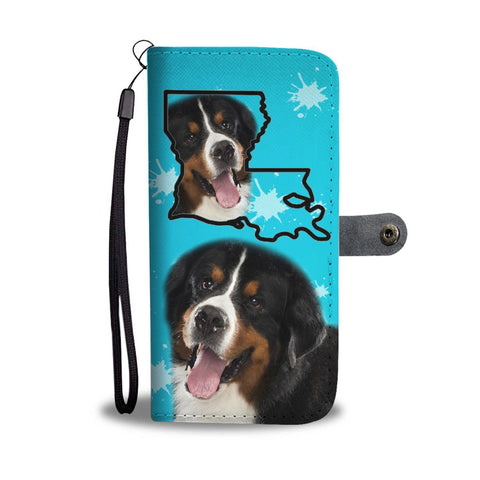 Bernese Mountain Dog Print Wallet Case-Free Shipping-LA State