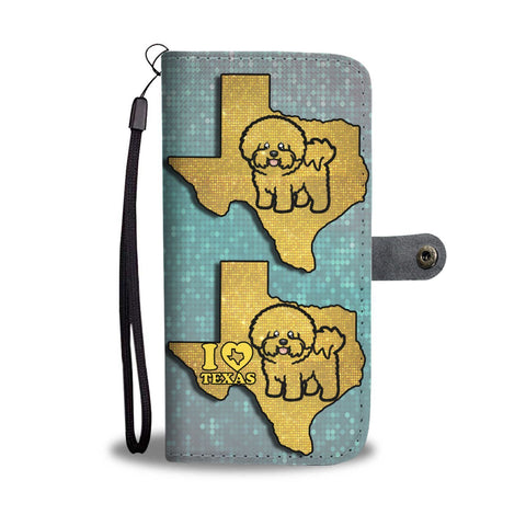 Bichon Fries Dog Art Print Wallet Case-Free Shipping-TX State