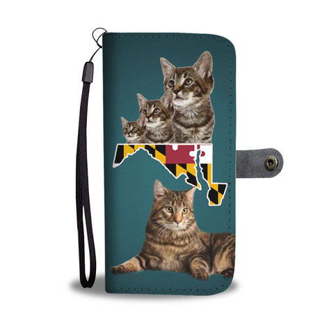 Manx Cat Print Wallet Case-Free Shipping-MD State