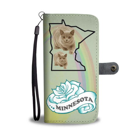 British Shorthair Cat Print Wallet Case-Free Shipping-MN State