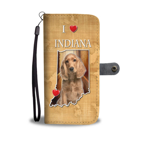 Cocker Spaniel Print Wallet Case-Free Shipping-IN State