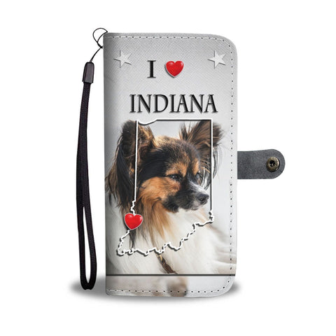 Cute Papillon Dog Print Wallet Case-Free Shipping-IN State