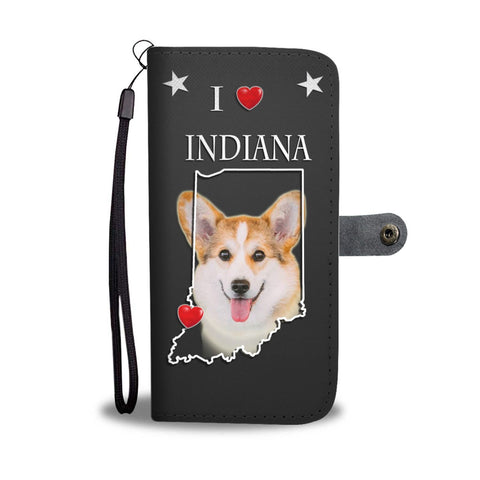 Pembroke Welsh Corgi Print Wallet Case-Free Shipping-IN State