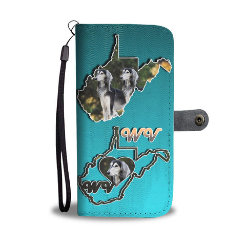 Amazing Saluki Dog Print Wallet Case-Free Shipping-WV State