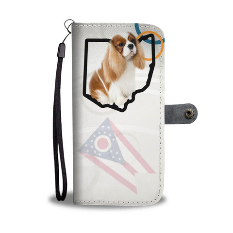 Cavalier King Charles Spaniel Print Wallet Case-Free Shipping-OH State