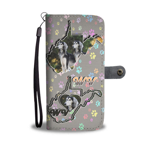 Saluki Dog Print Wallet Case-Free Shipping-WV State