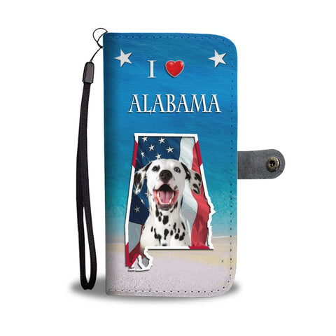 Cute Dalmatian Dog Print Wallet Case-Free Shipping-AL State