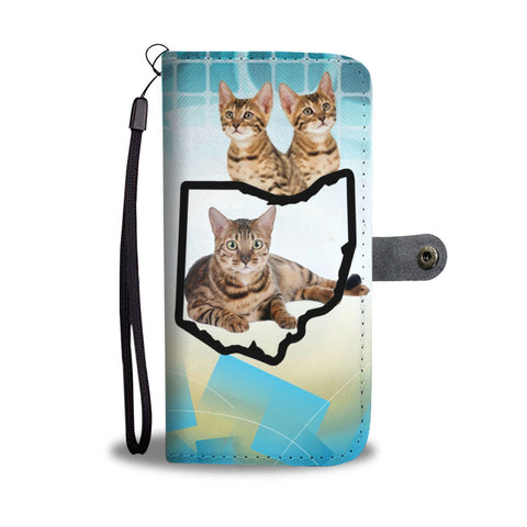 Amazing Bengal Cat Print Wallet Case-Free Shipping-OH State