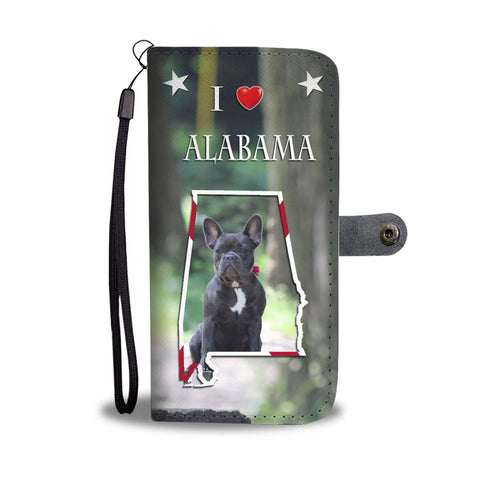 Cute French Bulldog Print Wallet Case-Free Shipping-AL State