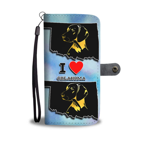 Vizsla Dog Art Print Wallet Case-Free Shipping-OK State
