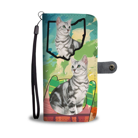 Amazing American Shorthair Cat Print Wallet Case-Free Shipping-OH State