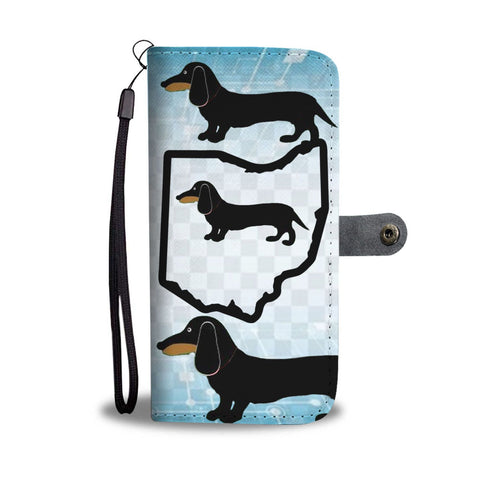 Dachshund Dog Print Wallet Case-Free Shipping-OH State